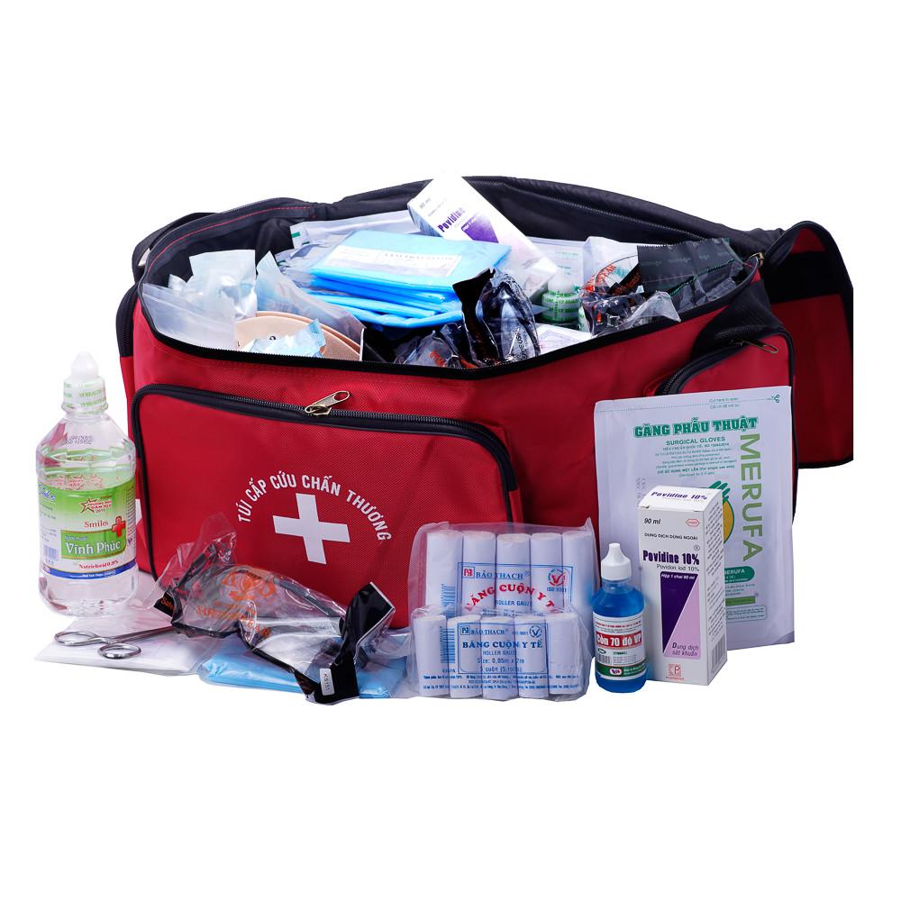 Túi Sơ cấp cứu, Túi Cứu Thương, Túi Cấp Cứu, Túi y tế bộ C màu đỏ theo Thông Tư không kèm nẹp