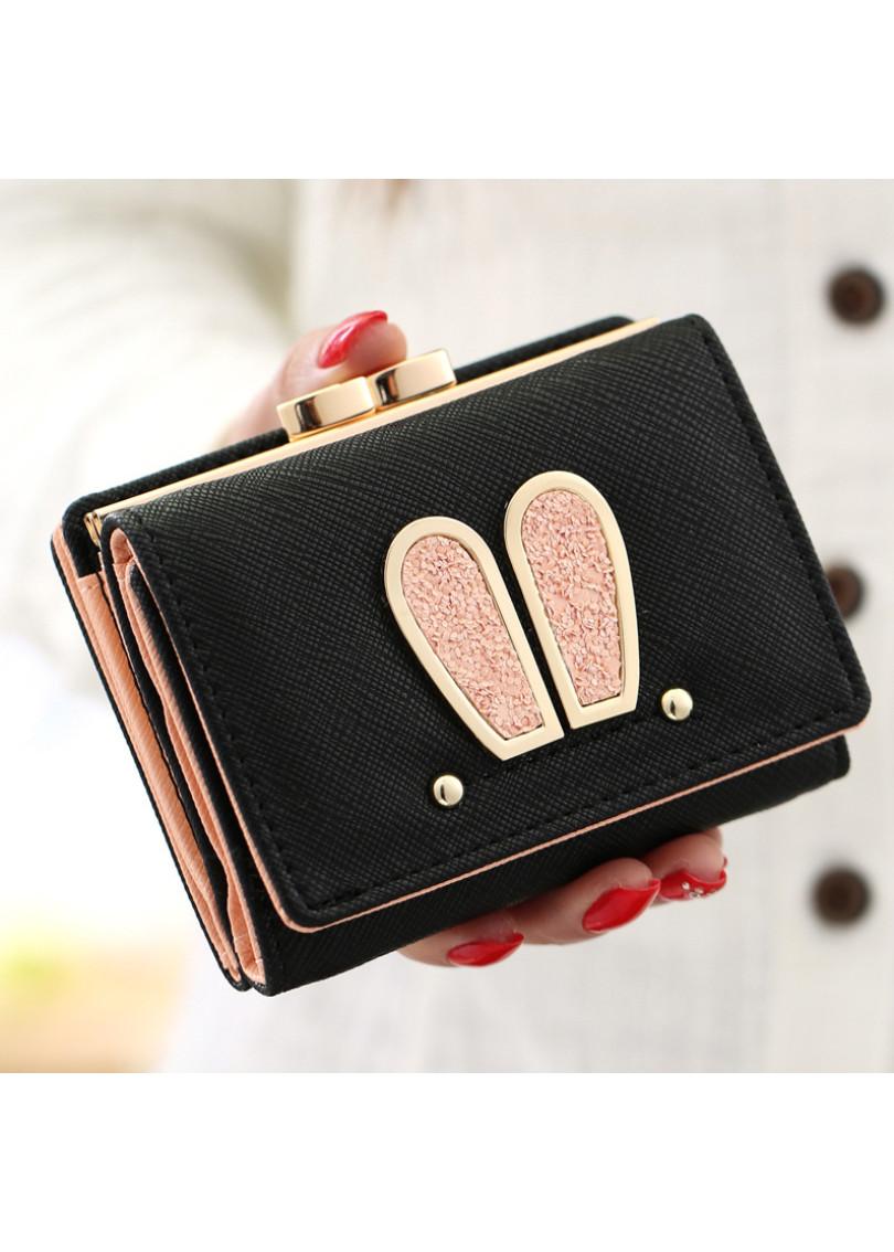 Ví bóp nữ mini cầm tay họa tiết tai thỏ VI-001