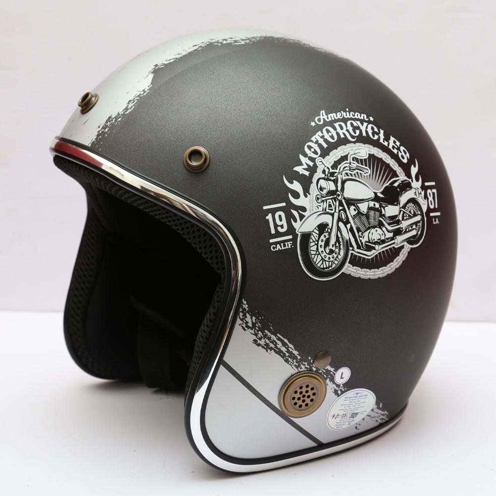 Mũ Bảo Hiểm 3/4 Protec STAR, Mũ Bảo Hiểm Phượt Protec STAR, An Toàn, Thời Trang, Mạnh Mẽ, Cá Tính - Hàng Chính Hãng