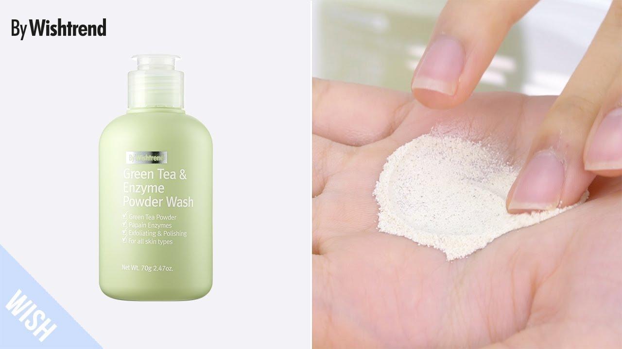 Sữa rửa mặt dạng bột By Wishtrend Green tea & Enzyme Powder Wash