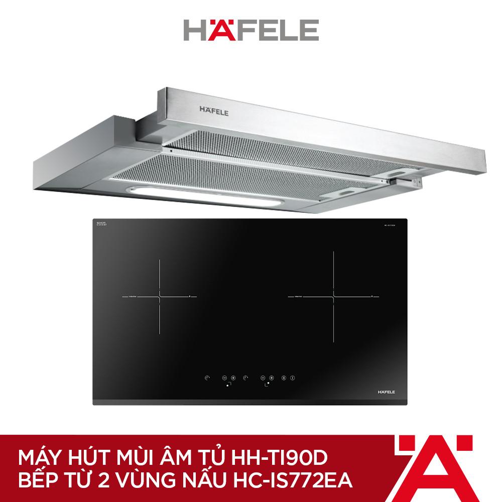 [PROMO] Máy Hút Mùi Âm Tủ HH-TI90D (90cm) + Bếp Từ 2 Vùng Nấu Hafele 770x450mm HC-IS772EA ( Hàng chính hãng )