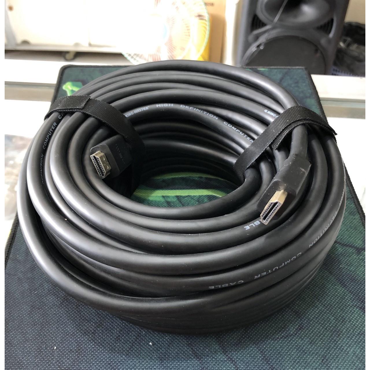 Cáp 2 đầu HDMI màu đen tốt dài 20 mét