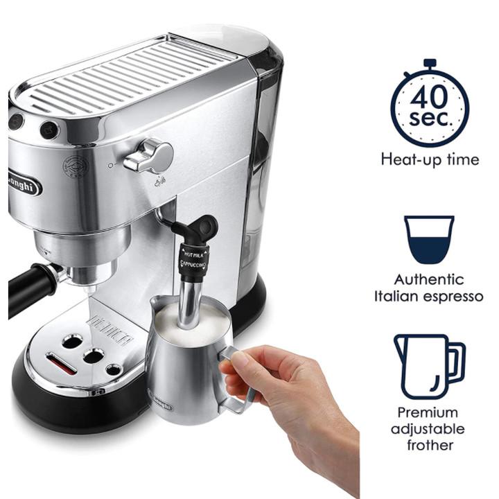 Máy pha cà phê Delonghi EC685.M với công suất 1300W - 1350W Dung tích 1.1L Pha chế được Espresso, Cappuccino - Hàng nhập khẩu