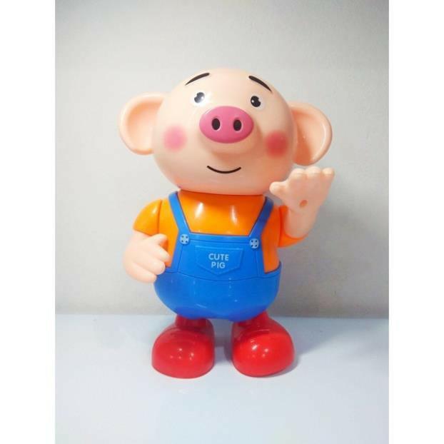 Combo bộ đồ chơi xếp gạch tư duy thông minh và chú heo biết nhảy biết hát cho bé