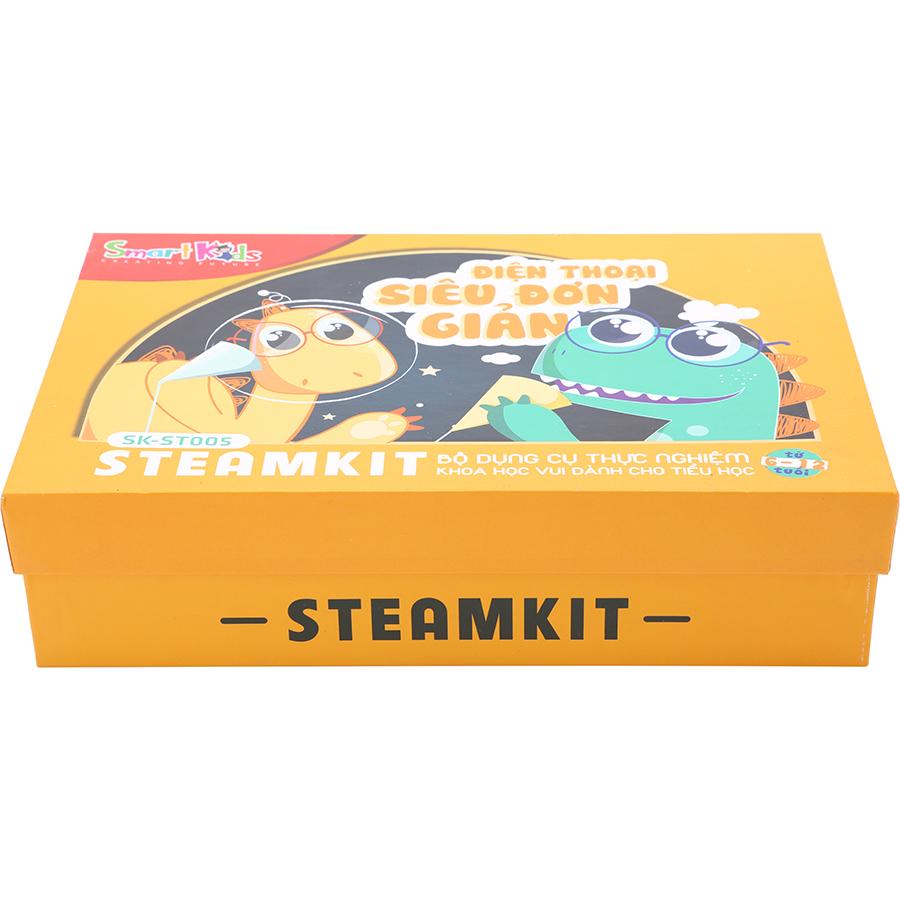 Bộ Dụng Cụ  Thực Hành Khoa Học Vui Steam Kit SMARTKIDS - SK-ST005: Điện Thoại Siêu Đơn Giản