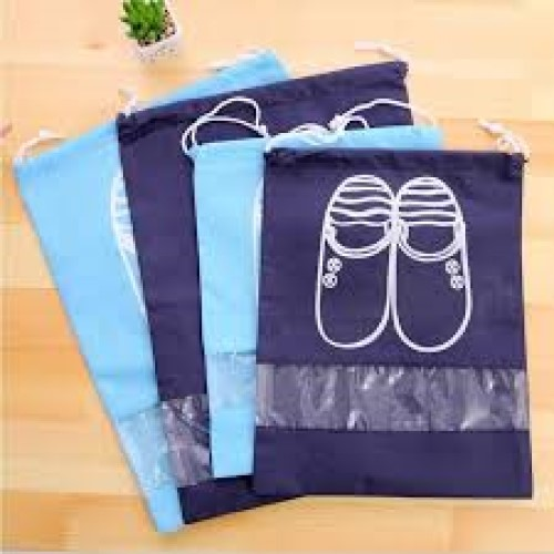 Combo 10 túi đựng giày HR có dây rút tiện lợi (Tặng kèm găng tay lau giày)