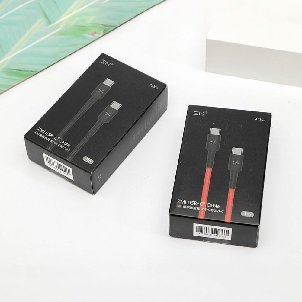 Cáp sạc Type-C to Type-C Xiaomi ZMI AL303 1m, 3A, màu ngẫu nhiên - Hàng Nhập Khẩu