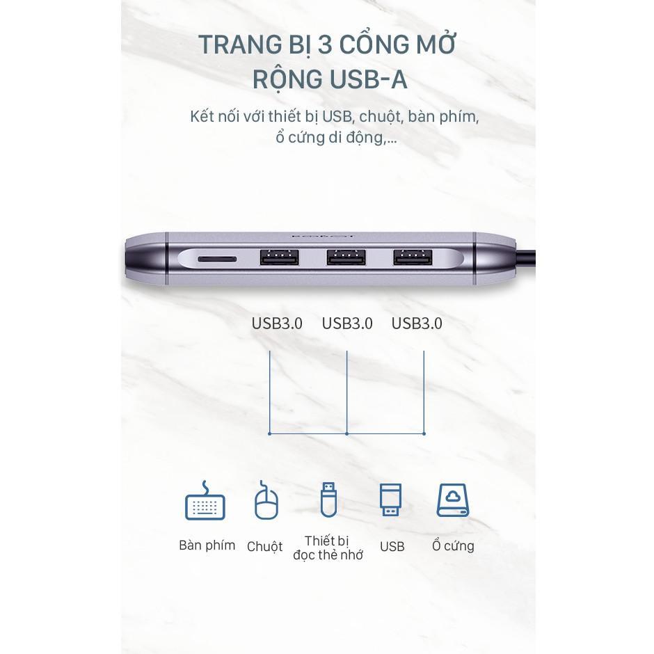 Bộ HUB Chuyển Đổi ROBOT 9 IN 1 Type-C/Cổng USB 3.0/2.0/ HDMI/PD/SD/TF/PD/VGA/ULTRA HD 4K - Hàng Chính Hãng