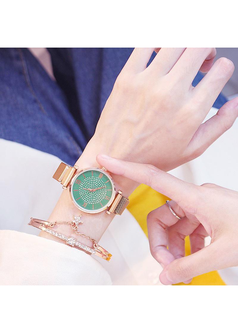 Đồng hồ nữ thời trang đẹp phong cách cá tính dây nam châm DH88