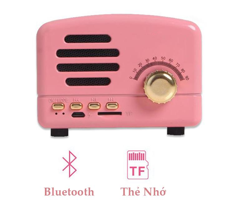 Loa Nghe Nhạc Bluetooth Mini Không Dây Cầm Tay Di Động BT-01 Âm Thanh Cực Lớn Dùng Cho Điện Thoại, Laptop, PC (Màu Ngẫu Nhiên)