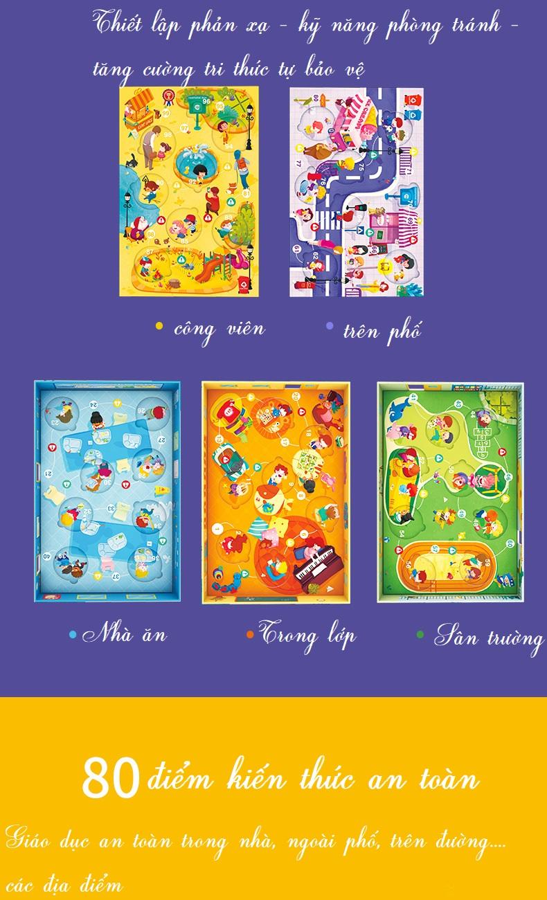 BỘ TRÒ CHƠI DẠY KỸ NĂNG BẢO VỆ GIÚP TRẺ AN TOÀN - CHÍNH HÃNG TOI TPZY217 - SUPER SAFETY KIDS