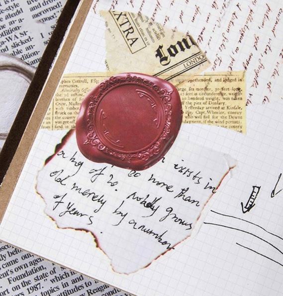 Hộp 45 Miếng Dán Sticker Trang Trí Hình Sáp Niêm Phong - Sealing Wax