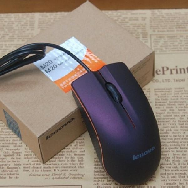 Chuột máy tính có dây Lenovo M20 kèm lót chuột quang 200x240mm - Hàng nhập khẩu