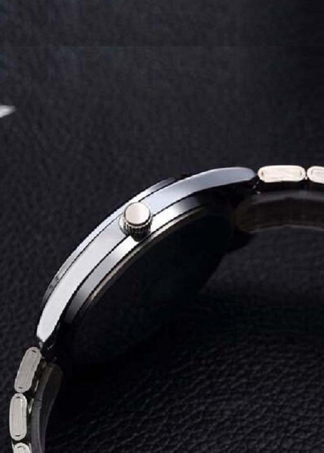 Đồng hô nam dây thép không gỉ DIZIZID mặt kính lồi đổi màu có lịch thứ lịch ngày ZIDT01
