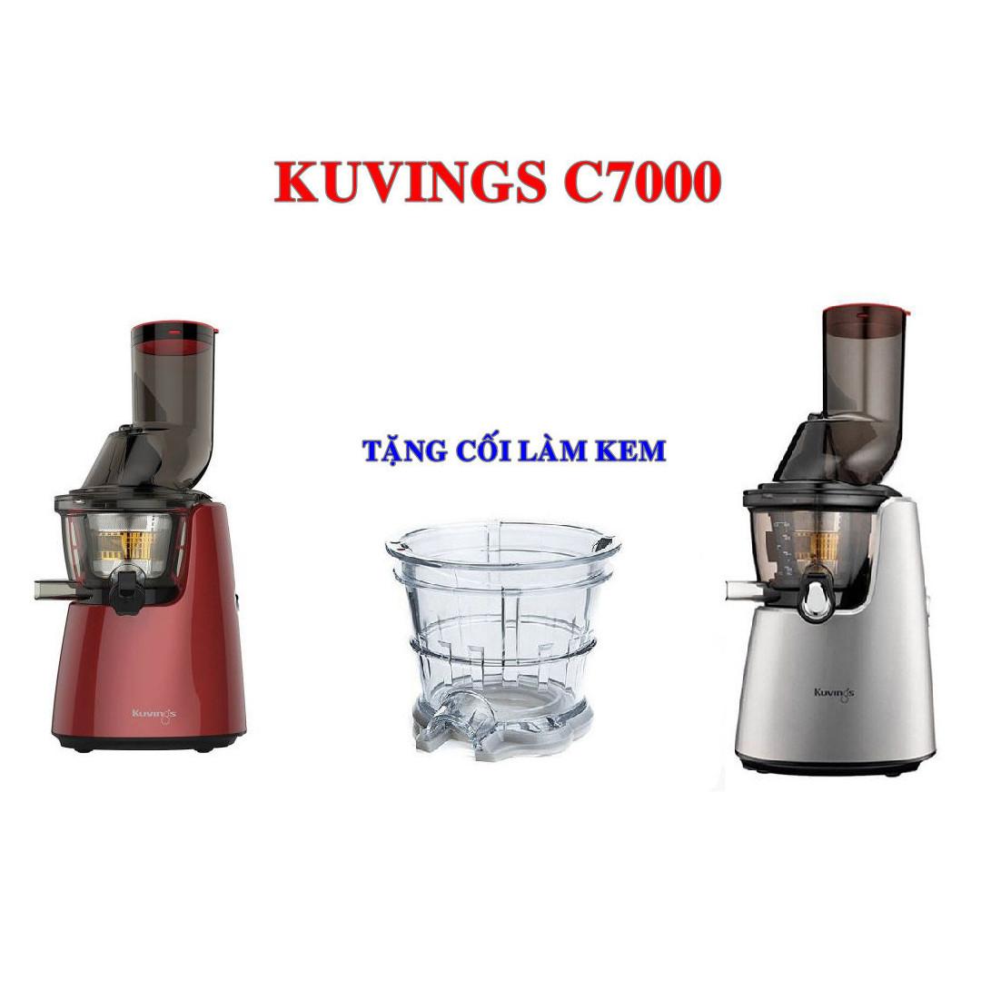 Máy ép trái cây Kuvings C7000 (màu ngẫu nhiên) . Hàng chính hãng ( TẶNG CỐI LÀM KEM )