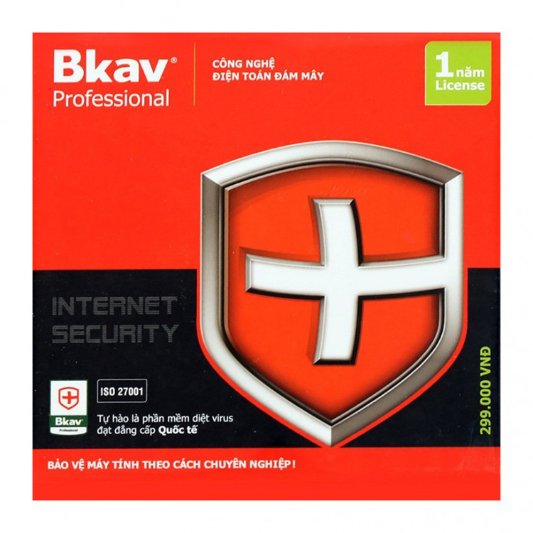 Phần mềm diệt virus Bkav Pro Internet Security 1PC/1năm