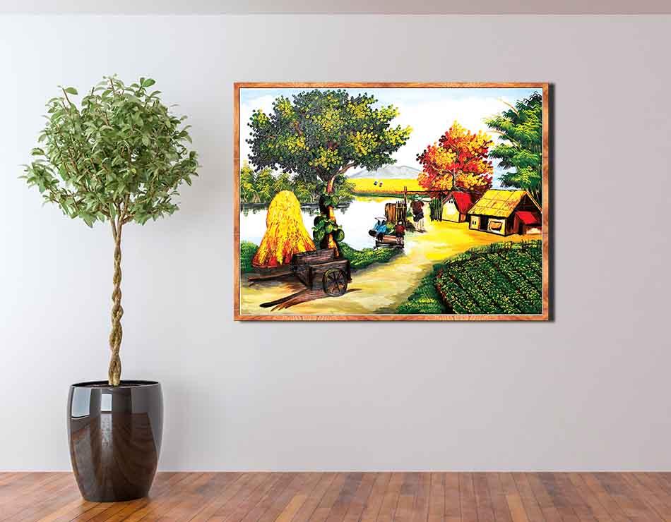 Tranh canvas treo tường làng quê Việt Nam - QVN026