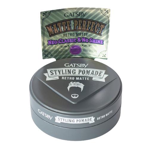 Sáp Retro Matte Pomade Tạo Kiểu Neo-Classic Góc Nước Bóng Mượt + Tặng Reuzel Grooming Tonic - Chính hãng - GATSBY STYLING POMADE 75G