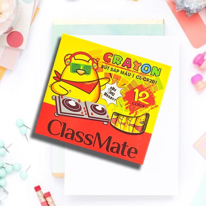 Classmate- Bút sáp dầu classmate, hộp sáp dầu 12 màu, 18 màu, 24 màu (mã sản phẩm CL-CR201,202,203)