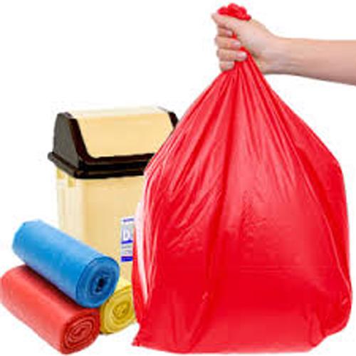 6 cuộn Túi đựng rác gia đình, Bao đựng rác văn phòng tiện lợi 3 màu size trung 55x65