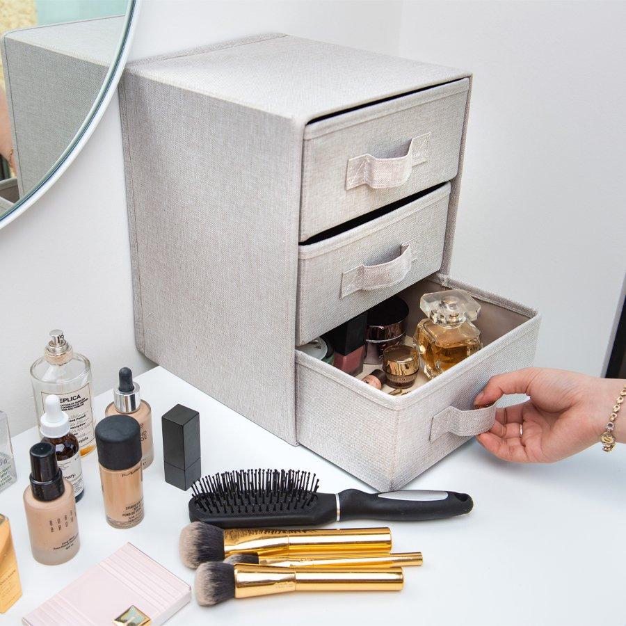 Tủ đựng đồ mini 3 ngăn Daiso - DS-MA02 - phong cách Hàn trang nhã