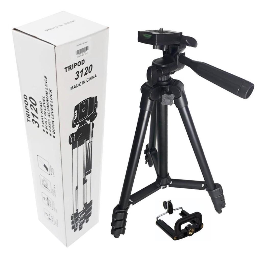 Chân giá đỡ điện thoại, máy ảnh Tripod TF 3120 kèm kẹp điện thoại- Chụp Ảnh, quay phim, Livestream