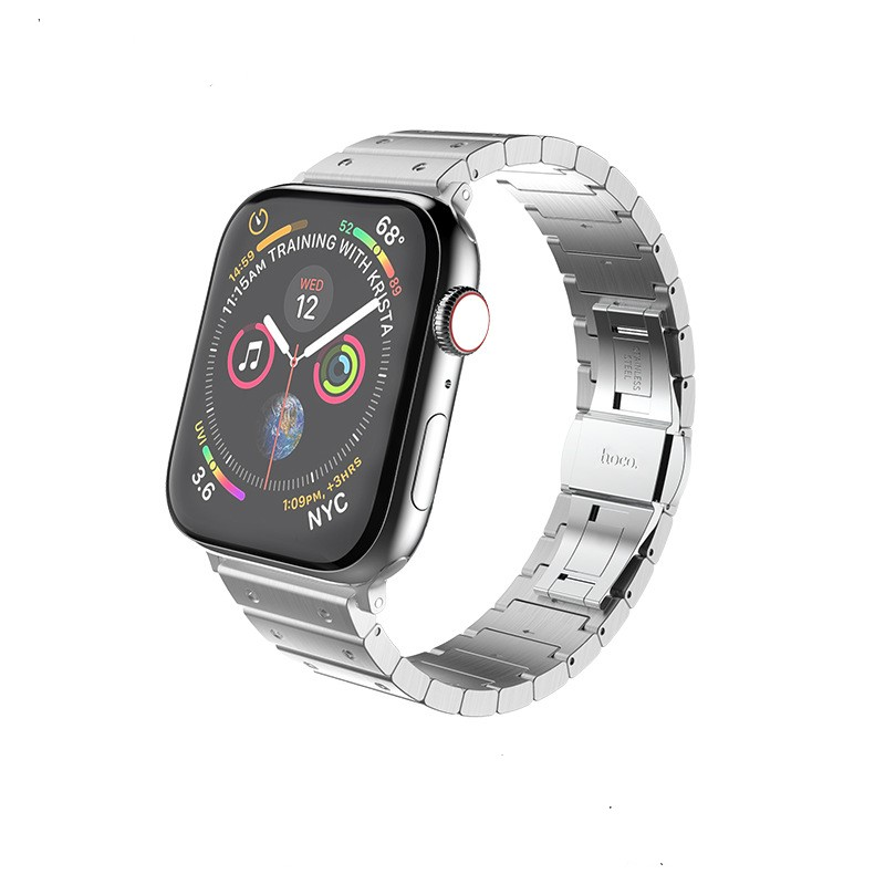 Dây Thép cho đồng hồ Apple Watch 44/42mm Hoco Link Bracelet_ Hàng nhập khẩu