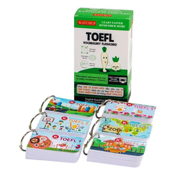 Bộ KatchUp Flashcard TOEFL - High Quality - Trắng