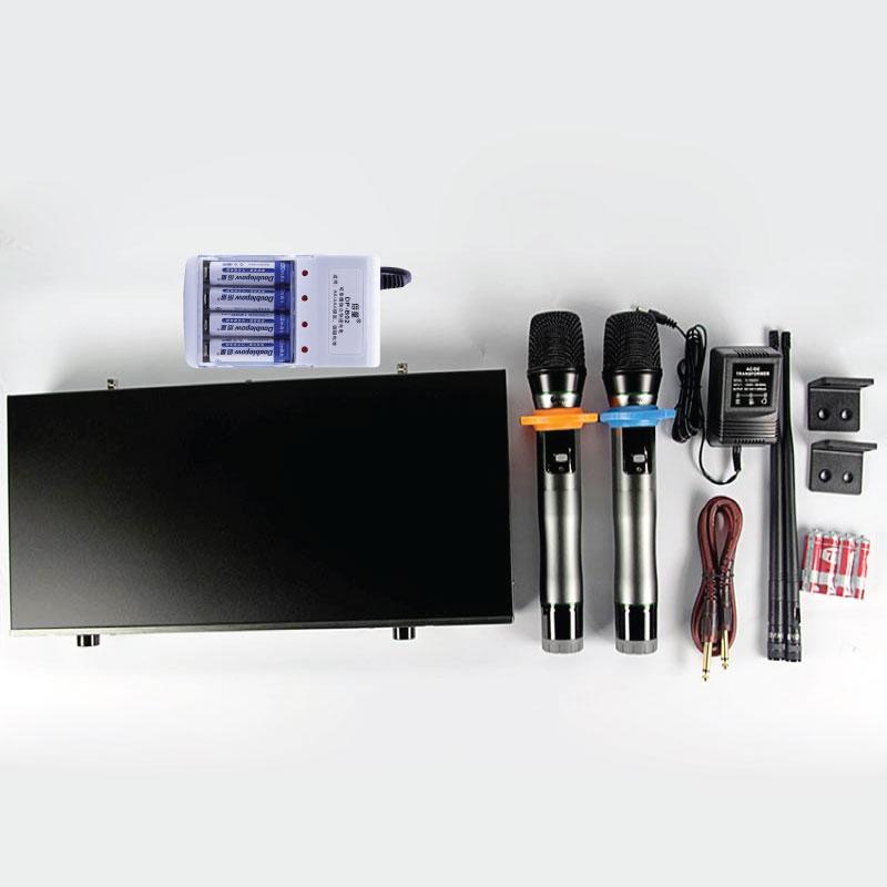 Micro không dây KIWI A3 tặng Bộ Pin Sạc Doublepow- Hàng chính hãng