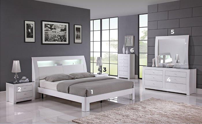 Bộ Phòng Ngủ 6 Món White SB889 Alila