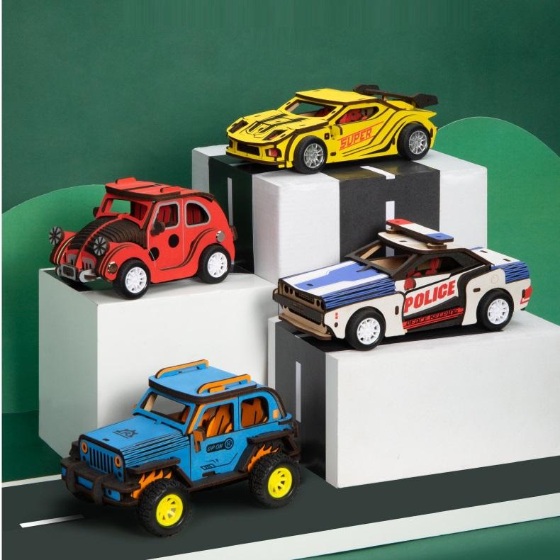 Đồ chơi lắp ghép gỗ 3D Mô hình Mô hình Xe Ô tô Wooden Cars
