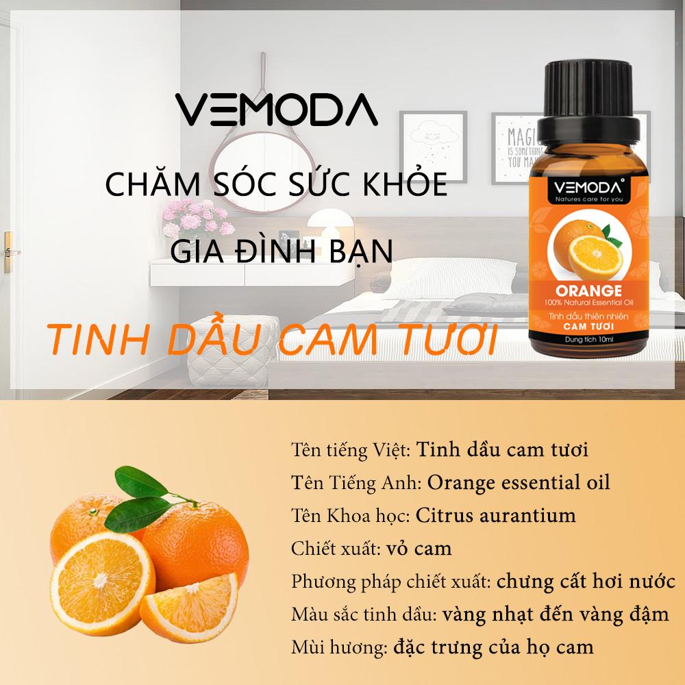 Tinh dầu Cam tươi cao cấp Vemoda 50ml giúp an thần, thư giãn, cải thiện tiêu hóa, kháng khuẩn, kháng viêm, giảm đau