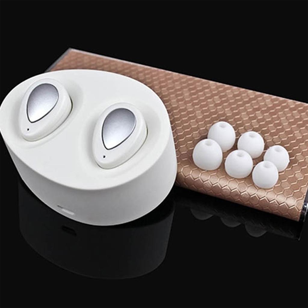Bộ 2 Tai Nghe Bluetooth Remax TWS-1-Tăng giá đỡ điện thoại-Hàng Chính Hãng