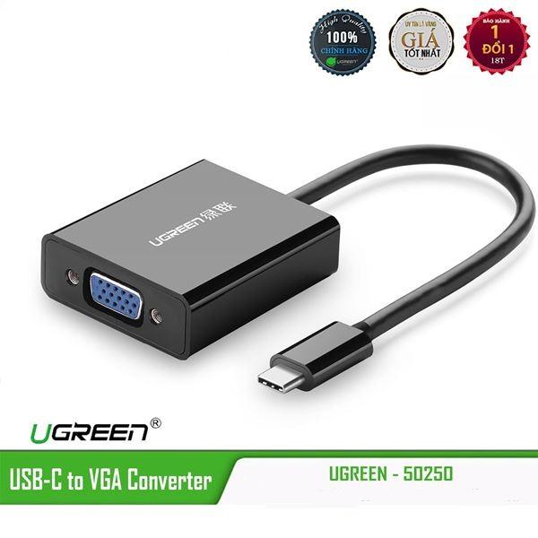 Cáp chuyển tín hiệu USB type-C ra VGA chính hãng UGREEN 50250