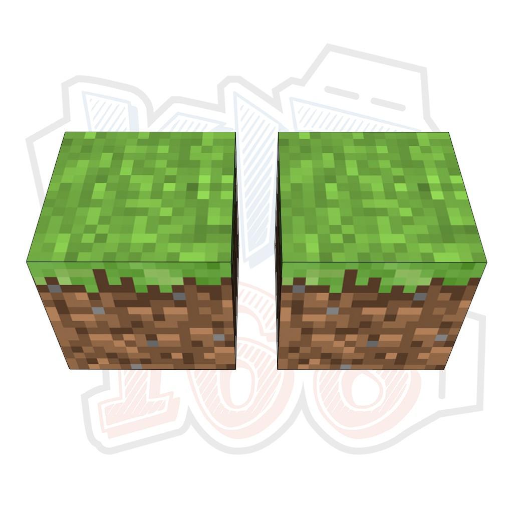 Mô hình giấy Minecraft GRASS block