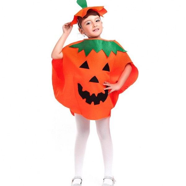 Set bí ngô 2 đến 3 món hoá trang Halloween cho bé