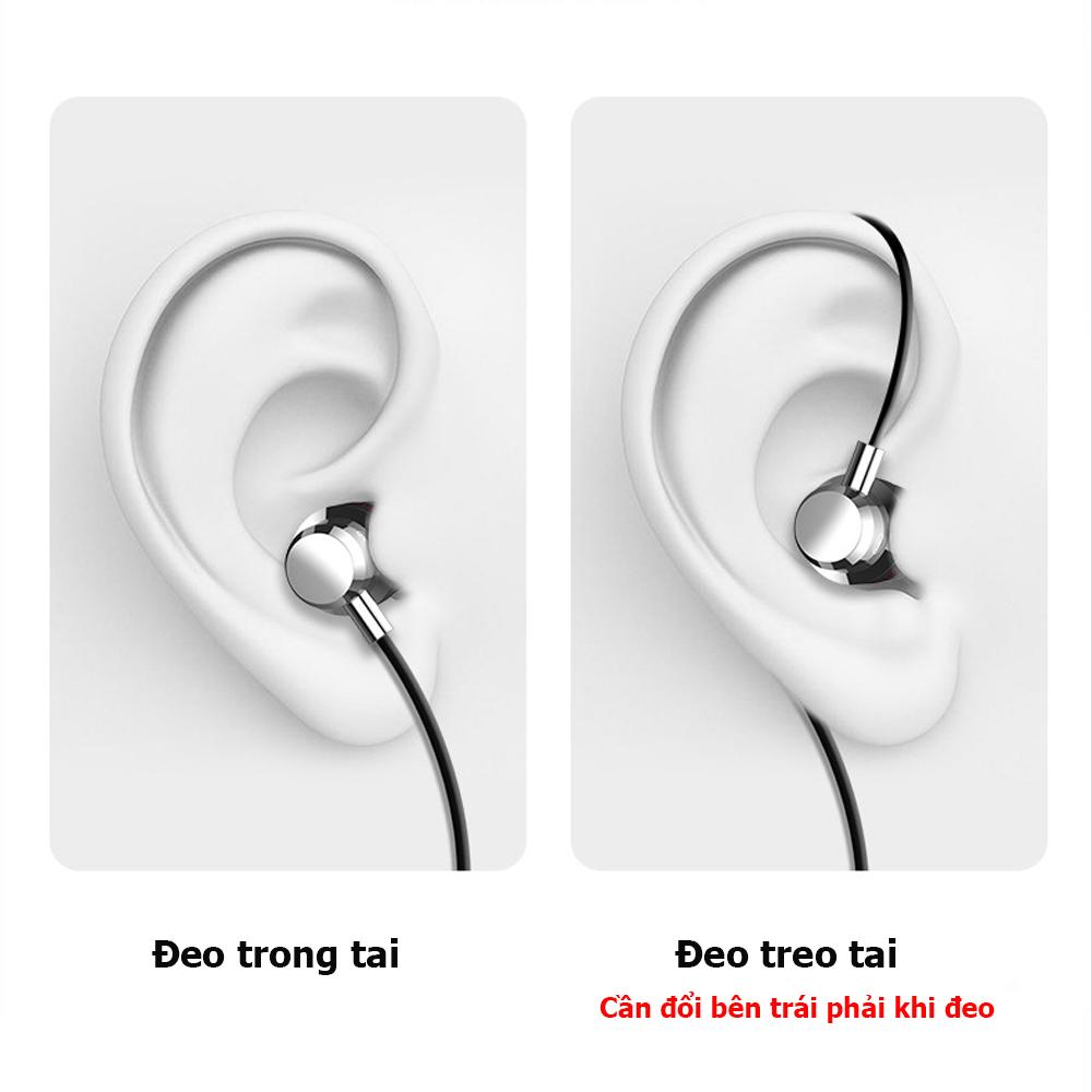 Tai nghe VPS, tai nghe có dây nhét tai âm thanh chất lượng cao, có micro đàm thoại, chân cắm 3.5mm phù hợp với nhiều dòng điện thoại- Hàng nhập khẩu