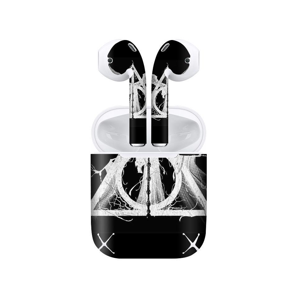 Miếng dán skin chống bẩn cho tai nghe AirPods in hình Harry Potter - hrp007 (bản không dây 1 và 2)