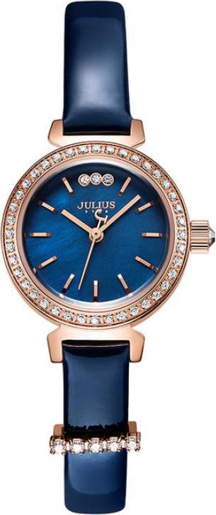 Đồng Hồ Nữ Julius Star Js-012d Dây Da Xanh
