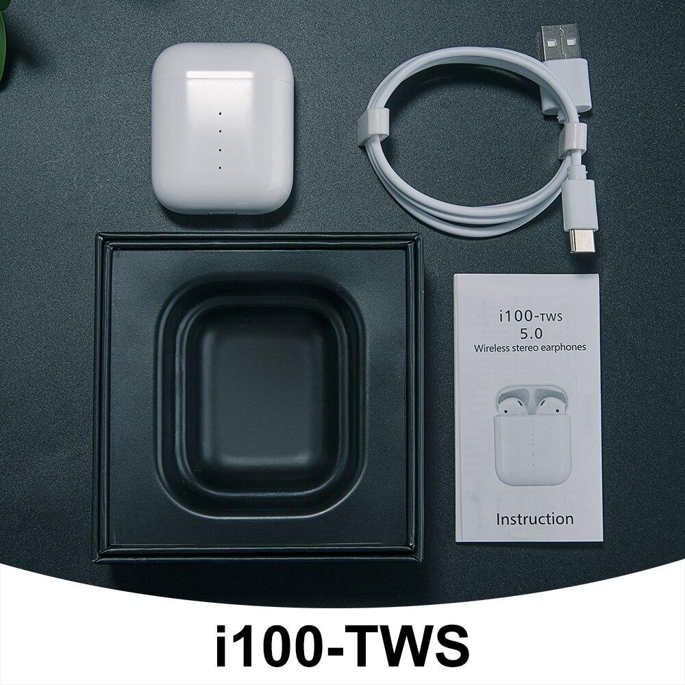 Tai nghe bluetooth cảm ứng I100 công nghệ 5.0 có Pop-up khi kết nối, tỷ lệ 1:1 tích hợp sạc không dây - hàng chính hãng