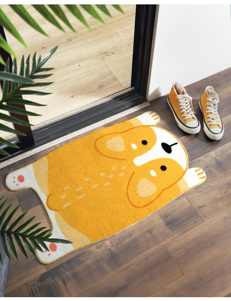 Thảm cửa ra vào phòng khách hành lang (lau chùi chân) - Hình mèo nằm KT 45x75cm