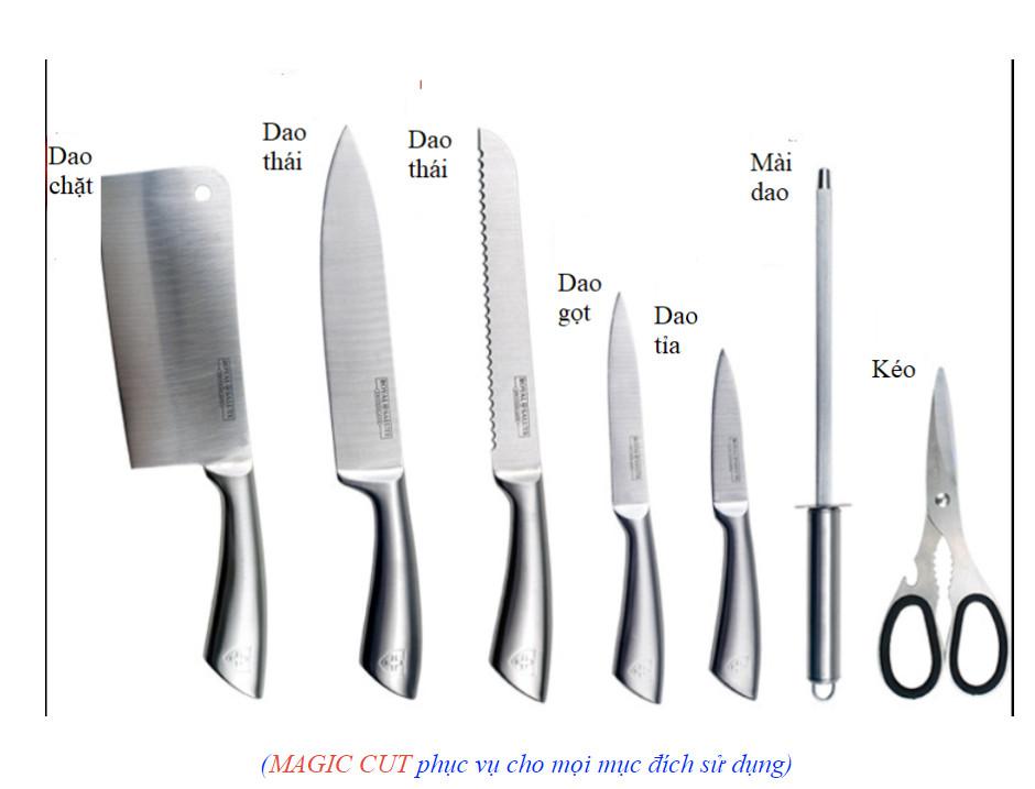 Bộ dao MAGIC CUT chất liệu thép
