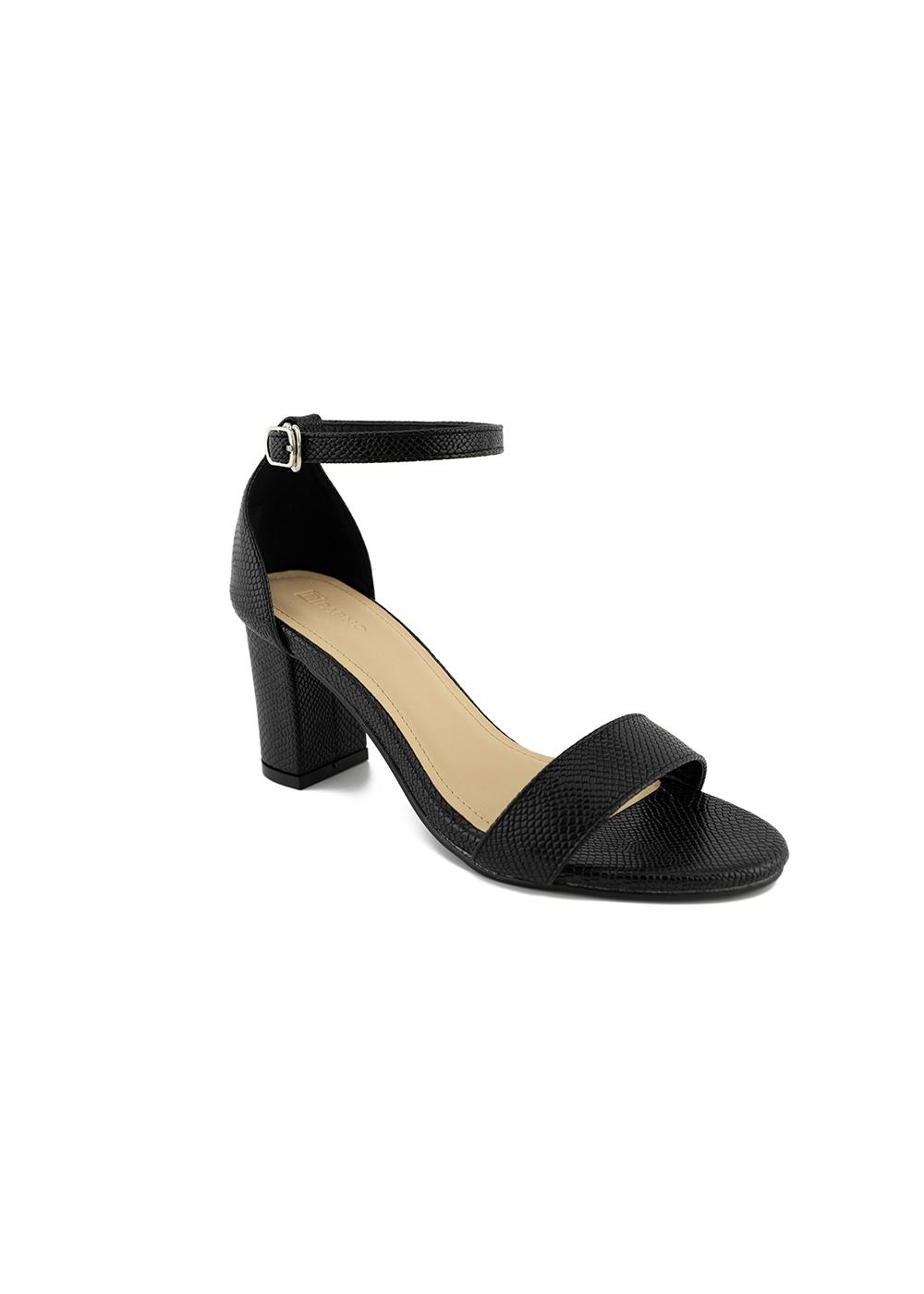 Giày Sandal Cao Gót Nữ PABNO PN14005, Họa Tiết Da Rắn, Bít Gót 7cm, Kiểu Dáng Thanh Lịch