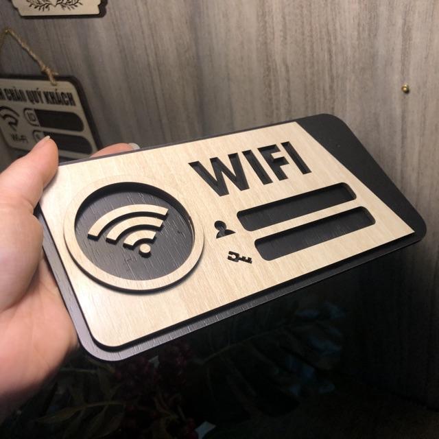 Tranh gỗ treo tường_Bảng gỗ trang trí wifi password F02_CRN_01