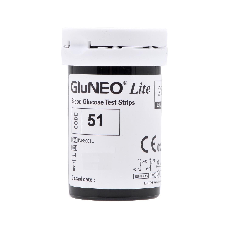 Máy Đo Đường Huyết GluNEO Lite - Tặng  25 que thử đường huyết và 25 kim chích máu