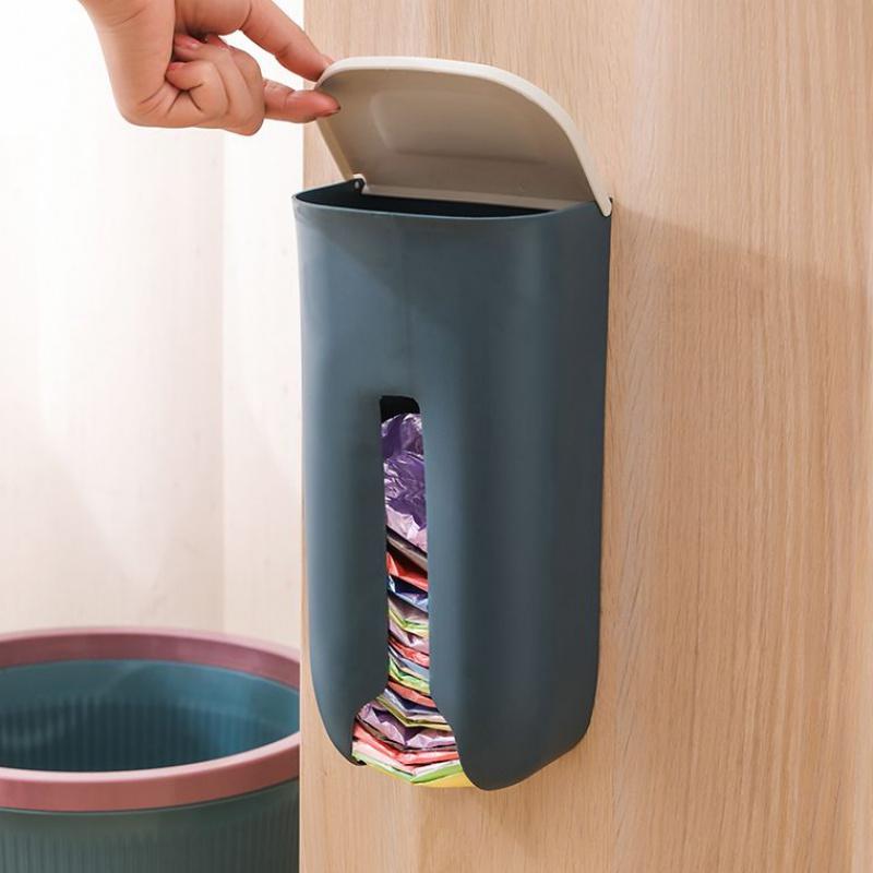 Hộp đựng giấy, đựng túi ni lông tái sử dụng bảo vệ môi trường(màu sắc ngẫu nhiên)