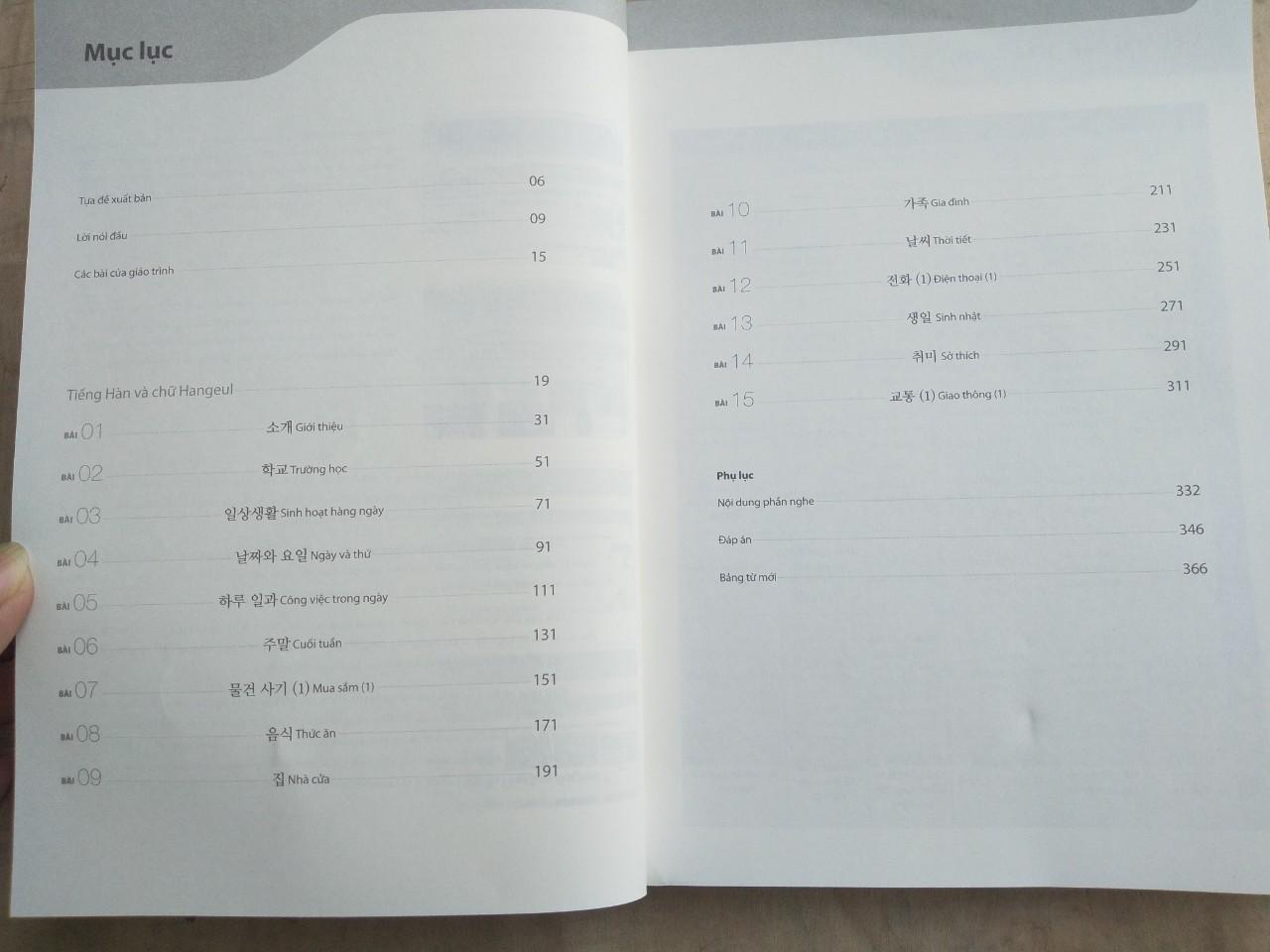 Trọn Bộ Tiếng Hàn Tổng Hợp Dành Cho Người Việt Nam - Sơ Cấp 1 (Bản In 2 Màu) Tặng Kèm Portcard Những Câu Nói Hay Của Người Nổi Tiếng