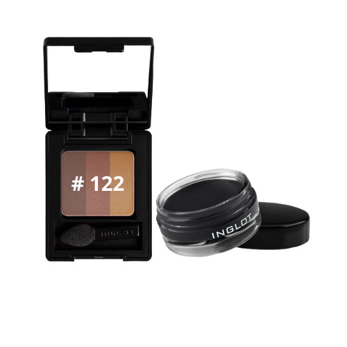 COMBO 01 hộp phấn mắt Eye Shadow Rainbow Double Sparkle NF + 01 Inglot Eye Amc Eyeliner Gel