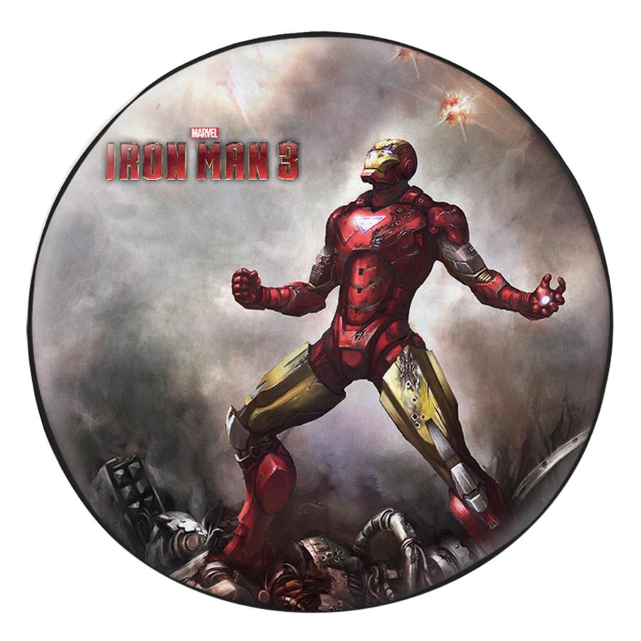 Gối Ôm Tròn In Hình Iron Man 3 - GOFF283