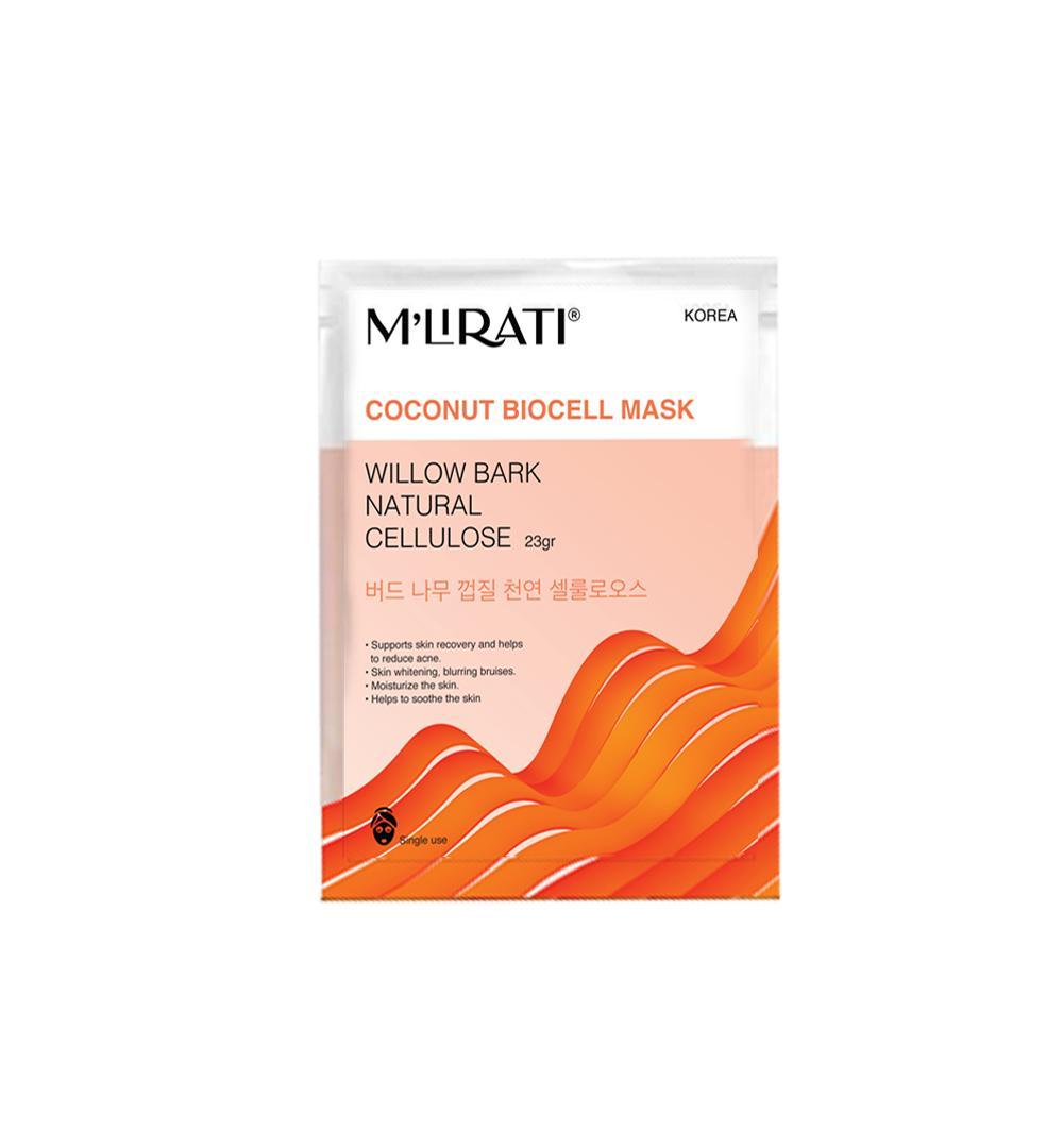 Willow Bark Natural Cellulose (Combo 6 Mặt Nạ Sinh Học Dành Cho Da Mụn) - M'Lirati